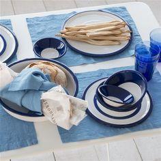 Cobalt Enamel Tableware | Designers Guild