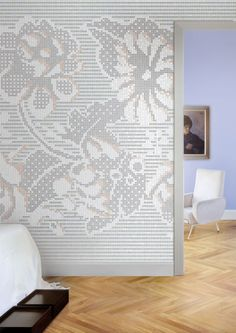 Mosaico Lace flowers mozaiek