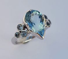 Jewelry Tools, Stone Jewelry, Jewelry Box, Jewelry Rings, Nail Ring, Jewellery Sketches, Vintage Diamond Rings, Rings Cool, Blue Rings