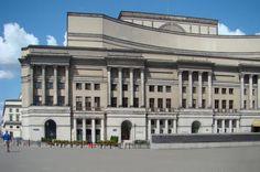 Południowa fasada Teatru Wielkiego w Warszawie