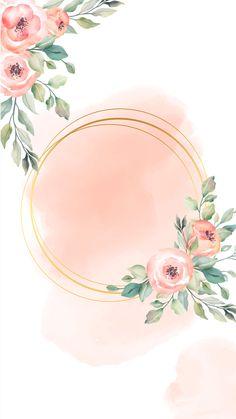 Flower Background Design, Flower Background Wallpaper, Flower Backgrounds, Background Patterns, Photo Frame Wallpaper, Framed Wallpaper, Sunset Wallpaper, Watercolor Lettering, Floral Watercolor