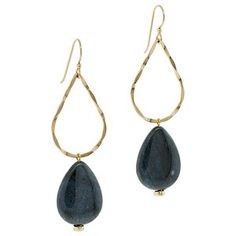 Onyx and Gold Earrings