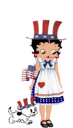 Betty Boop ...celebrates the 4th. of July!