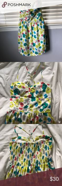 American Eagle Flower Sundress American Eagle Flower Sundress worn once American Eagle Outfitters Dresses