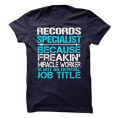 Records Specialist T Shirts, Hoodies, Sweatshirts. CHECK PRICE ==► https://www.sunfrog.com/LifeStyle/Records-Specialist-63418019-Guys.html?41382