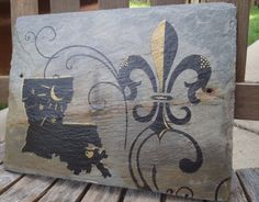 Louisiana Fluer De Lis on Recycled New by NewOrleanSlateDesign, $35.00