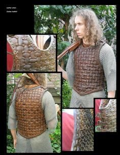 Leather woven armor