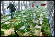 Aerial topography rug - Pixdaus
