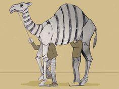 First Design for Roger Titley's Ashgabat Camel Puppets