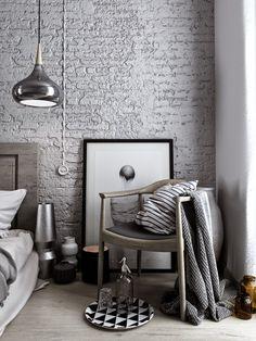 A bedroom in grey tones   3d Images (via Bloglovin.com )