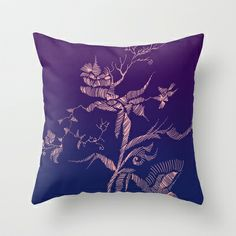 flower Throw Pillow by Marianna Tankelevich - $20.00