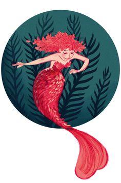 Mermaid design by Alexander Wilson, via Behance