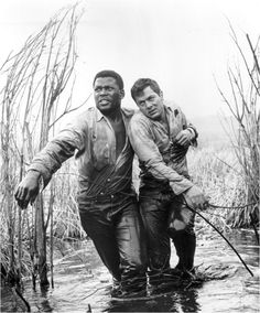 Sidney Poitier and Tony Curtis in The Defiant Ones directed by Stanley Kramer, 1958