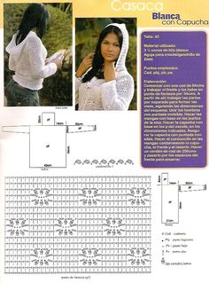 gilet capuche.  Crochet plaisir over-blog.  Crochet cardi.  Graph pattern saved to Evernote