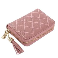 KEVIN YUN Designer Brand Women Credit Card Holder Genuine Leather Fashion Luxury Pillow Tassel Ladies Card Case Wallet Small