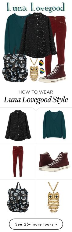"""Luna Lovegood"" by waywardfandoms on Polyvore featuring White Stuff, MANGO, Converse, Arizona, women's clothing, women, female, woman, misses and juniors"