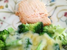 Salmon and Broccoli with Melted Cheese: 3/22/13