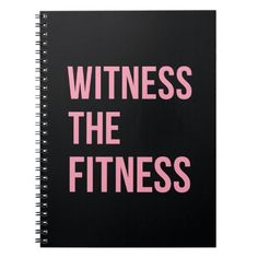 """""""Witness The Fitness"""" sassy workout motivational workout quote, in a cool black and pink typographic design. Get inspired to get fit, look hot, and be your absolute best. Would make an ideal gift for a personal trainer, coach, gym rat, etc. For more motivational gym gear, workout clothes, fitspiration, inspiring exercise quotes visit: <a href=""""http://www.zazzle.com/artofinspiration/gifts?cg=196934704378394004"""" title=""""Workout Motivation and Gym Gear"""">Art Of Inspiration</a>"""