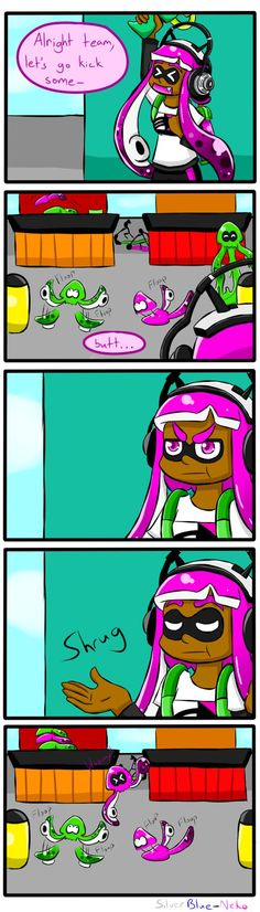 """Now that I'm on Winter Break, I'm gonna try and aim for some Splatoon comic strips! They'll be titled """"Squidmas"""", which are funny and cute comic strips about my Splatoon characters during the Chris..."""
