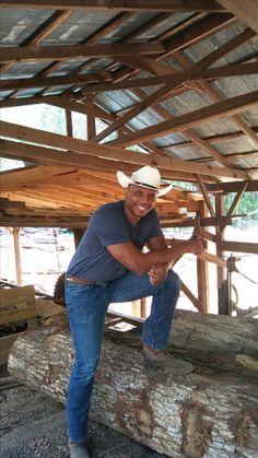 Cowboy Jeff master rustic furniture builder at Anderson Saw Mill in Cummins, Georgia. Custom Wood Furniture, Reclaimed Wood Furniture, Cummins, Georgia, Artist, Reclaimed Furniture