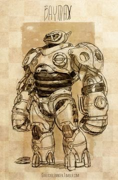 AGH! Two of my biggest geeky favorites combined into one! :'D Steampunk big hero 6