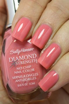 Sally Hansen - It's Chiff-on! Lovely peachy-pink with tiny gold flakes