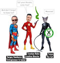 X-PLAY Gaming Club. Together We Can Make it GO! | Indiegogo Crowdfunding, Marketing, Creative, Graphic Design, Team, Tsvetan Kolev, Sergey Kamburov, Tusya - the Cat
