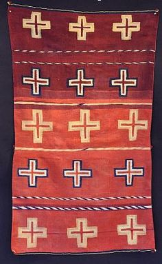 - 'Extremely Rare Circa 1850-1875 Navajo Classic Period Child's Blanket in ' - Len Wood's Indian Territory