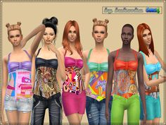 The Sims Resource: Top Summer Day by bukovka • Sims 4 Downloads