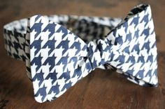 Lord Wallington Handmade Blue Houndstooth Bow by LordWallington, $40.00