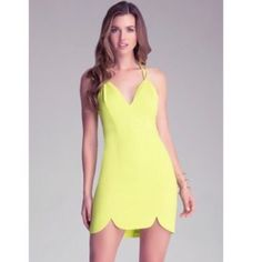 Bright Green Bebe Dress A lot of compliments with this one. Worn once in Vegas. bebe Dresses Mini