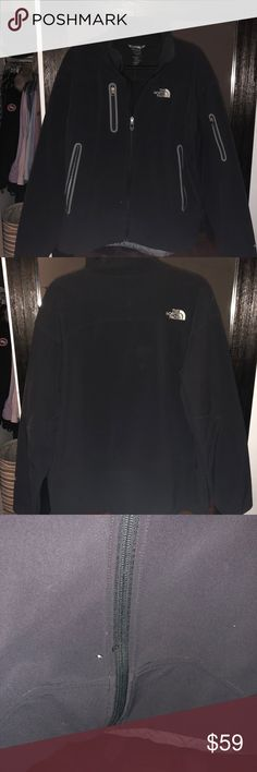 Men's North Face Large Apex Jacket Warm up with this cozy North Face Jacket. It's a size Large and the condition is very good. There is a small tiny hole next to zipper but it is very minor. North Face Jackets & Coats Lightweight & Shirt Jackets