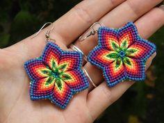 Rainbow earring by Teszugi.deviantart.com on @DeviantArt
