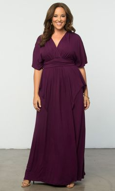 Feel like a gypsy goddess in our Indie Flair Maxi Dress. Not your typical maxi, this style is designed with dramatic features like kimono sleeves and a draped front for a layered and slightly peplum look. So flatter your curves and let your free-spirited style soar in this must-have piece!