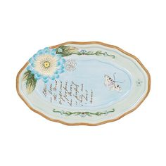 Fitz and Floyd Hand Painted Toulouse Oval Appetizer Plate