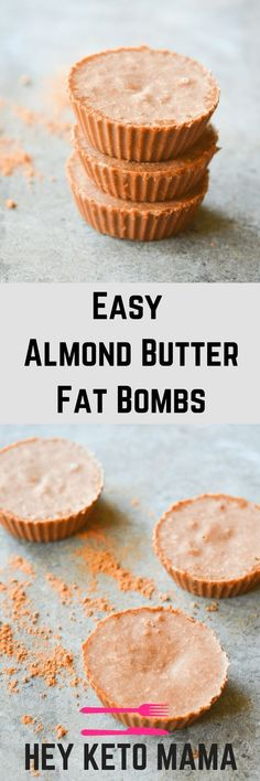 These Almond Butter Fat Bombs are very easy to make AND they're lick-the-bowl-delicious! With only 4 ingredients and less than 2 net carbs, you HAVE to try them the next time you need a sweet fix.   heyketomama.com