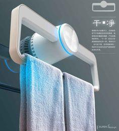 Un sèche-serviette qui en plus de sécher vos serviettes, les désinfecte avec des UV.