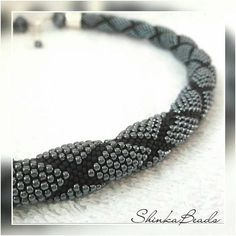 Bead crochet rope necklace is crocheted on 100% cotton thread with