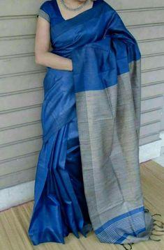 114 best Silk Sarees photos by Blue Silk Saree, Indian Silk Sarees, Tussar Silk Saree, Kerala Saree, Soft Silk Sarees, Cotton Saree, Sarees For Girls, Simple Sarees, Designer Blouse Patterns