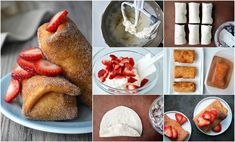 Homemade Strawberry Cheesecake Chimichangas