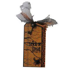 Halloween Spider Web Tag