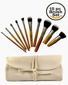 Eco Bamboo Kabuki Makeup Brush Tool Set – 10 Pcs Cosmetic Brushes Kit in Travel Organizer Bag – New Leaf Products  BUY NOW     $99.99     WANT TO DO YOUR BIT TO SAVE THE WORLD?   OUR ECO-FRIENDLY COSMETIC BRUSH SET MEANS YOU NEVER HAVE TO COMPROMISE ON QUALITY   ..  http://www.beautyandluxuryforu.top/2017/03/12/eco-bamboo-kabuki-makeup-brush-tool-set-10-pcs-cosmetic-brushes-kit-in-travel-organizer-bag-new-leaf-products/