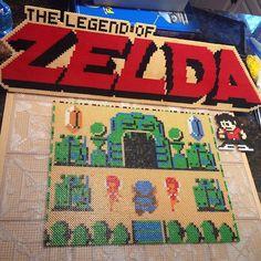 Legend of Zelda scene perler beads by tyler_plurden