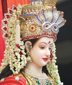 Image may contain: 1 person Maa Durga Photo, Maa Durga Image, Lord Durga, Durga Ji, Hanuman Images, Durga Images, Ganesh Images, Durga Maa Pictures, Maa Durga Hd Wallpaper
