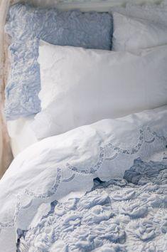 ♕ Lazybones bedding. Pretty,  pretty linens.                   ..