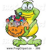 Image result for frogs trick or treating