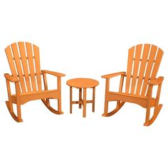Polywood St. Croix 3-Piece Rocker Set -