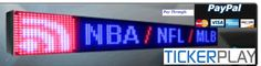 An Electronic LED Ticker display is a great way to attract attention, while communicating useful and timely information. Ticker services are completely wireless and do not require a phone line, cable or satellite dish to work. Read more at:- http://www.tickerplay.com/led-stock-ticker.html