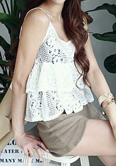 Double layered Lace Top, Comfy Stretchable Fabric Top