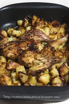Pollo arrosto al lardo di Colonnata con patate - Trattoria da Martina - cucina tradizionale, regionale ed etnica